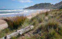 Makorori Beach, near Gisborne, New Zealand. Later summer afternoon scene at Makorori Beach, a popular surfing and beachgoers destination, near Gisborne, New royalty free stock photography