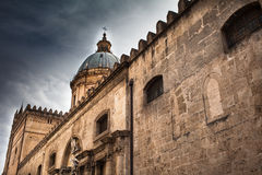 Lateral Cathedral of Palermo Royalty Free Stock Photography