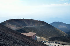 Lateral crater of the volcano Etna Stock Photo