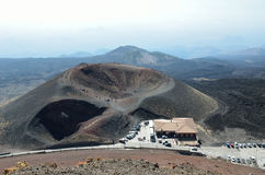 Lateral crater of the volcano Etna Royalty Free Stock Image