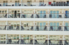 Lateral decks on the sea liner Royalty Free Stock Photo