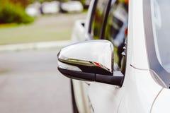 Lateral do espelho de carro Imagem de Stock Royalty Free