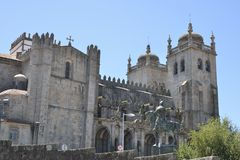 Lateral facade of cathedral Stock Photography