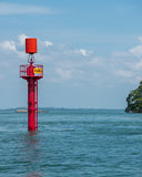 Lateral mark by Kusu Island Royalty Free Stock Images