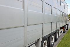 Lateral side of the truck close-up stock photo