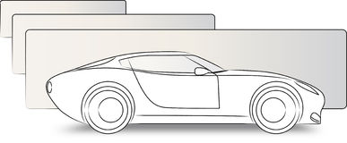 Lateral sketch car Stock Photography