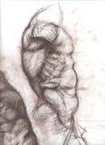 Lateral torso sketch original Stock Photos