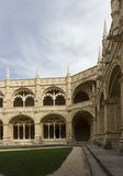 Lateral view of the internal cloister of Jeronimos Monastery Royalty Free Stock Image