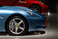 Lateral View Of A Ferrari California Royalty Free Stock Photography