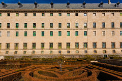 Lateral view of the Royal Site of San Lorenzo de El Escorial Stock Photography