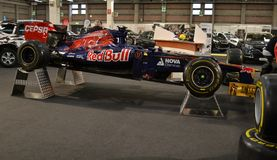Lateral view to Infiniti RedBull Formula 1 racing car Royalty Free Stock Images
