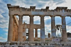 Lateral Walls of the Cella, Parthenon, Acropolis Stock Photography