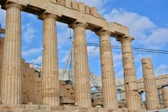 Lateral Walls of the Cella, Parthenon Royalty Free Stock Image