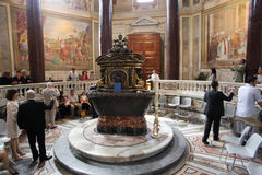 Lateran Baptistery in Rome Stock Image