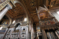Lateran basilica. Rome, Italy - famous Papal Archbasilica of St. John Lateran, officially the cathedral of Rome. Baroque interior royalty free stock photography