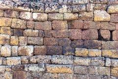 Laterite-Backsteinmauer Lizenzfreies Stockbild