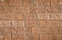 Laterite-Backsteinmauer. Lizenzfreie Stockbilder