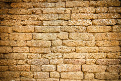 Laterite Brick wall Royalty Free Stock Images