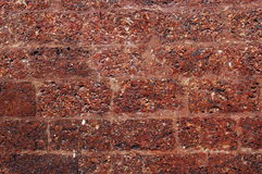 Laterite brick wall Royalty Free Stock Photo