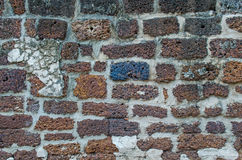 Laterite Brick wall texture. Antique Laterite brick wall Stock Photos