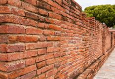 Laterite brick wall tilted out Royalty Free Stock Images