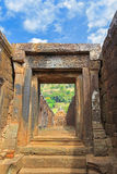 Laterite courtyards and walls of Northern palace at Vat Phou, Wa Stock Photography
