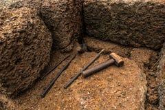 Laterite e martelo pesado Fotografia de Stock