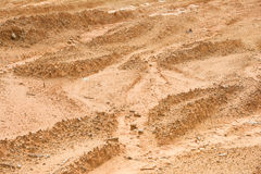 Laterite soil excavation site for sale. Construction stock photography