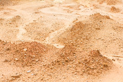 Laterite soil excavation site for sale. Construction royalty free stock photos