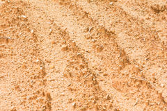 Laterite soil excavation site for sale. Construction stock image