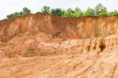Laterite soil excavation site for sale stock images