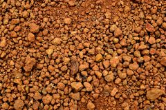 Laterite soil textured background. And is mostly of the iron oxide and aluminum Royalty Free Stock Image