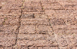 Laterite stone brick floor.Phimai vintage Castle H Stock Photography
