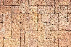 Laterite stone brick wall Stock Images