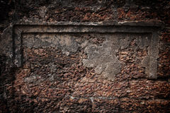 laterite stone brick wall Royalty Free Stock Photography