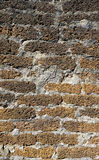 Laterite stone texture at temple in Sukhothai Royalty Free Stock Photography