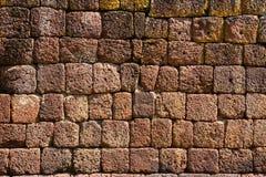 Laterite wall,Panomrung historical park, Thailand Royalty Free Stock Image