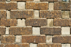 Laterite wall. Royalty Free Stock Images