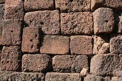 Lateritestenen texturerar bakgrund Royaltyfri Bild