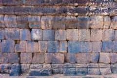 Lateriteziegelstein vom alten Stockbild