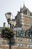 Latern цветет фронт места d Armes Канады Квебека (город) знака всемирного наследия ЮНЕСКО привлекательности Frontenac замка извес Стоковая Фотография