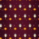 Latern Festive Seamless Patterns. I Stock Photography
