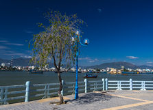 Latern na deptaku w Nha Trang. Wietnam fotografia stock