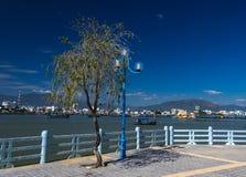 Latern on the promenade in Nha Trang. Vietnam. Latern on the romantic river promenade in Nha Trang city. Vietnam Stock Photography