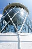 Laterne auf einem Leuchtturm Stockfotografie