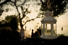 Laterne bei Sonnenuntergang Lizenzfreie Stockfotografie