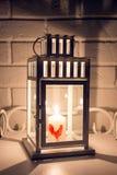 Laterne des neuen Jahres für Kerzen lizenzfreies stockbild