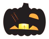 Laterne eine Halloweens Jack O gemustert Lizenzfreies Stockfoto