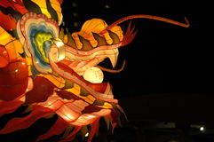 Laterne-Festival in Singapur, Drache stockfotos