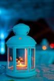 Laterne mit Kerze Lizenzfreie Stockfotografie